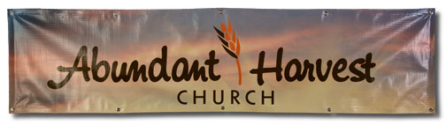 Church name banner