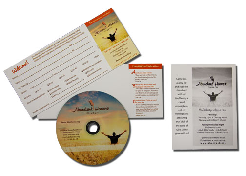 Visitor's card, CD, invitation