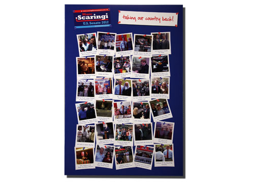 mounted posterboard of snapshots