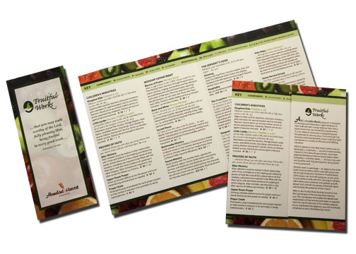 quad-fold color brochure
