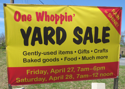 One Whoppin' Yard Sale