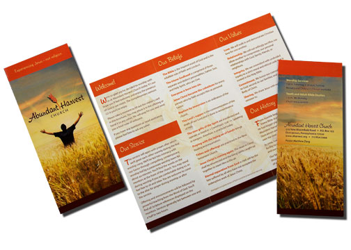 Tri-fold color brochure