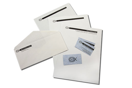letterhead, second sheet, envelope, business card