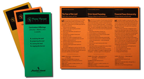 one-color tri-fold brochure