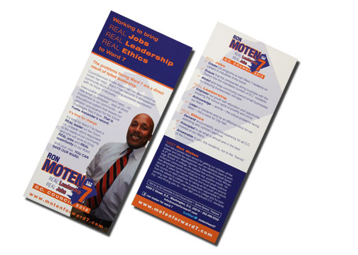 Double-sided palm card